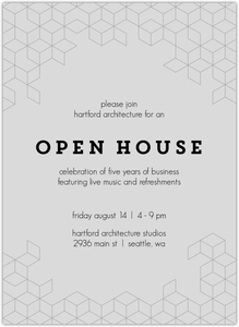 Modern Cubic Business Online Open House Invitation