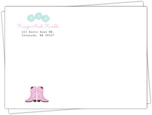 Cowgirl Kids Birthday Envelope