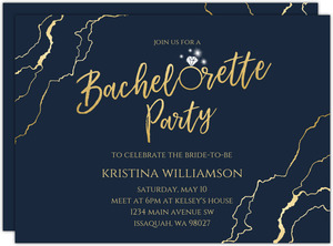 Faux Gold Marble Printable Bachelorette Party Invitation