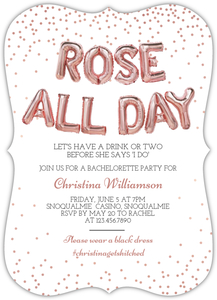 Rose All Day Online Bachelorette Party Invitation