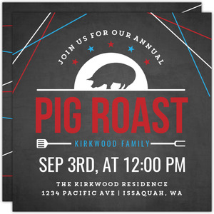 Annual Pig Roast Printable Summer Party Invitation
