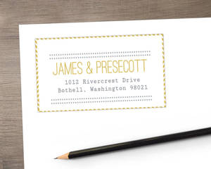 Simple Modern Statement Address Label