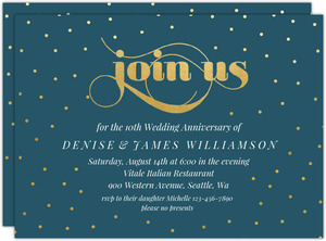 Celebration Dots Printable Anniversary Invitation