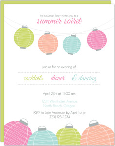 Colorful Lanterns Summer Soiree Printable Flyer