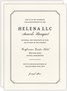 Formal Double Frame Corporate Event Printable Invitation