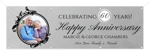 Elegant Photo Monogram Printable Anniversary Banner