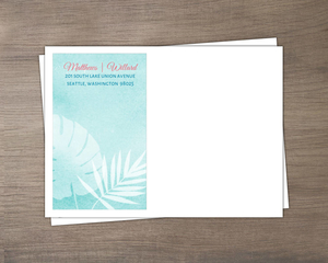 Watercolor Palms Wedding Custom Envelope