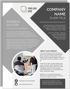 Neutral Grey Printable Business Flyer