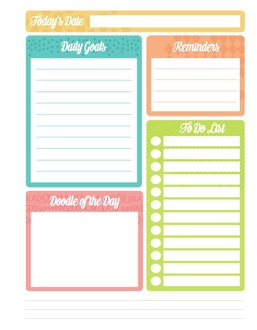 Patterned Tabs Printable Custom Pages