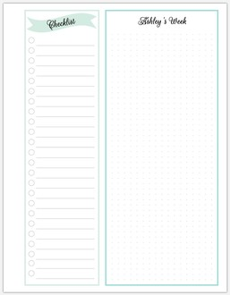 Checklist Dotted Journal Printable Custom Pages