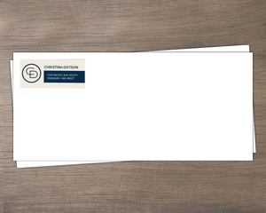 Tan Modern Blocks Business Envelope