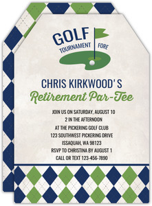 Vintage Tournament Golf Birthday Invitation