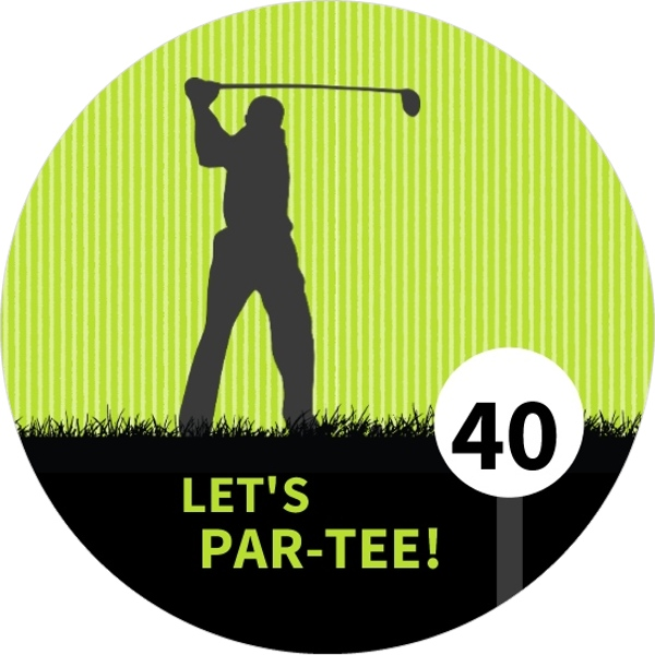 Golf Par Tee 40Th Birthday Invitation