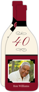 Elegant Wine Toast 40th Birthday Invitation