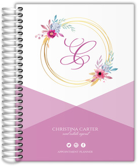 Simple Monogram Personal Business Planner