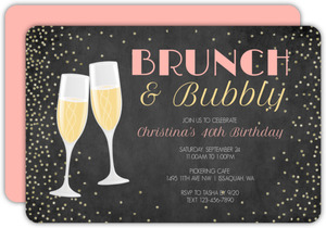 Bubbly Celebration 40th Birthday Invitation