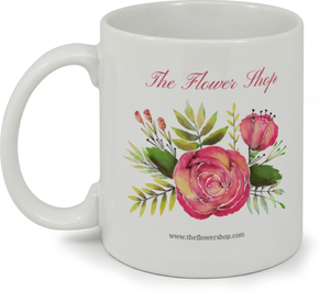 Watercolor Flowers Personalized Business Mug