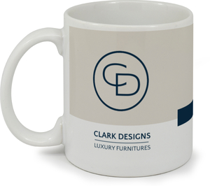 Modern Block & Logo Business Mug