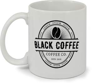 Large Logo Coffee Shop Custom Mug