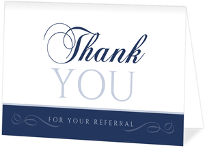 Swirly Decor Referral Thank You Card