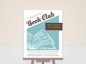 Graphic Retro Book Club Business Poster Print