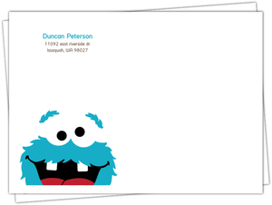 Blue Cookie Monster Envelope