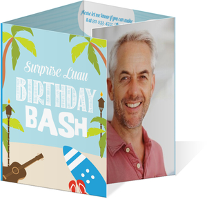 Funny Luau Surprise Birthday Party Invitation