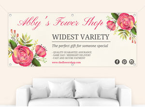 Watercolor Flowers Business Custom Banner