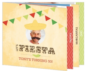 Rustic Yellow Mexican Fiesta 50Th Birthday Invitation