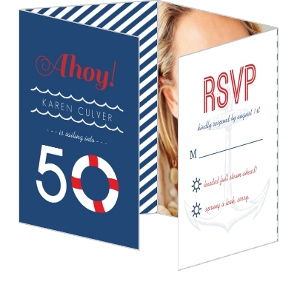 Nautical Weekend Getaway 50Th Birthday Invitation