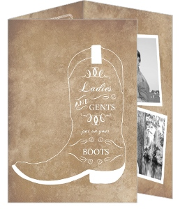 Western Hoedown 50Th Birthday Party Invitation