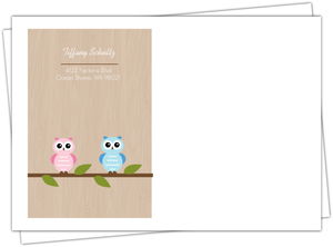 Two Owls On A Branch Envelope