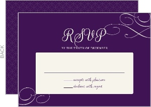 Royal Flourish Wedding Response Card