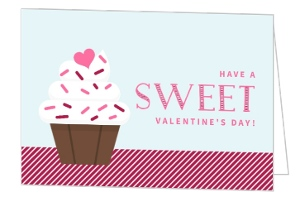 Sweet Sprinkle Cupcake Valentine's Day Card