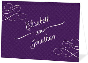 Royal Flourish Wedding Thank You Card