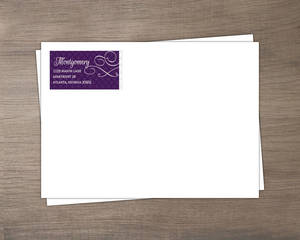 Royal Flourish Wedding Envelope
