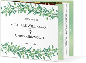 Gorgeous Greenery Wedding Booklet Invitation