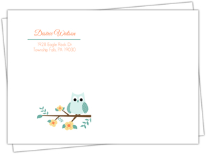 Teal Owl Envelope