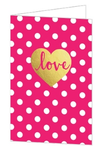 Gold Foil Love Valentine's Day Card