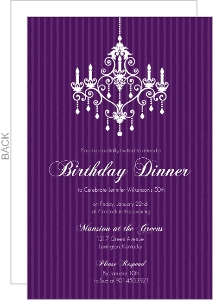 Elegant Chandelier Birthday Party Invitation