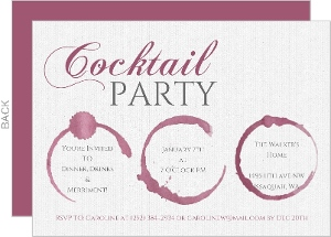 Wine Stain Cocktail Party Birthday Party Invitation
