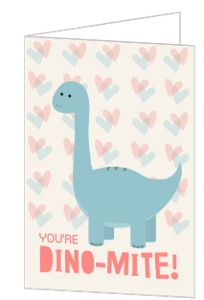 Dino Mite Valentine's Day Card