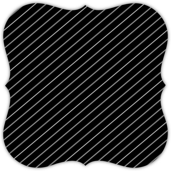 Elegant Black And White Stripes 50th Birthday Invitation