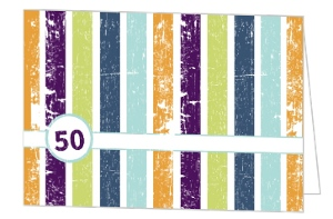 Stripes 50Th Birthday Party Invite