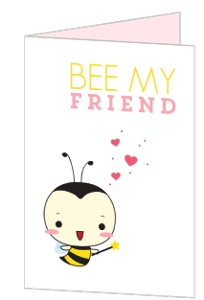 Cute Bee My Friends Kids Valentine's Day Card
