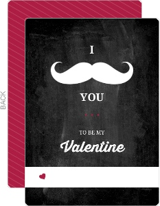 I Mustache You Valentines Card