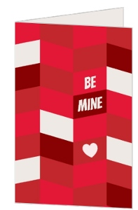 Beautiful Geometric Pattern Valentines Card