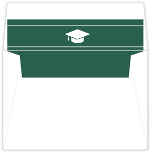 Simple Black and White Graduation Cap Envelope Liner