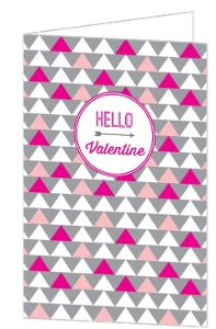 Modern Pattern Valentine's Day Card