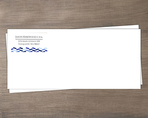 Shades of Blue Chevron Business Envelope